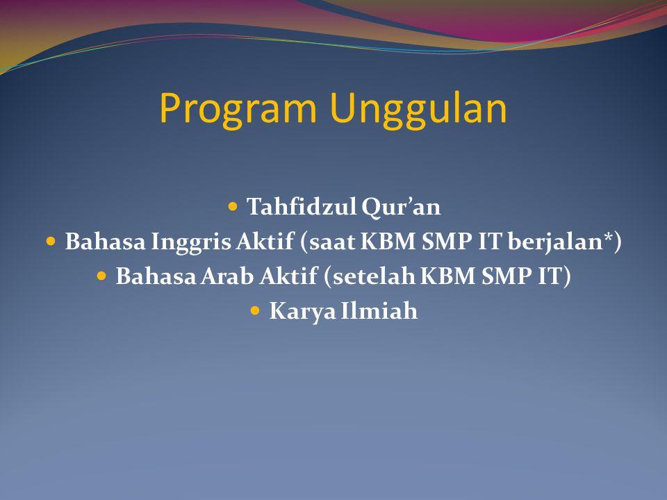 Program Unggulan Tahfidzul Qur'an