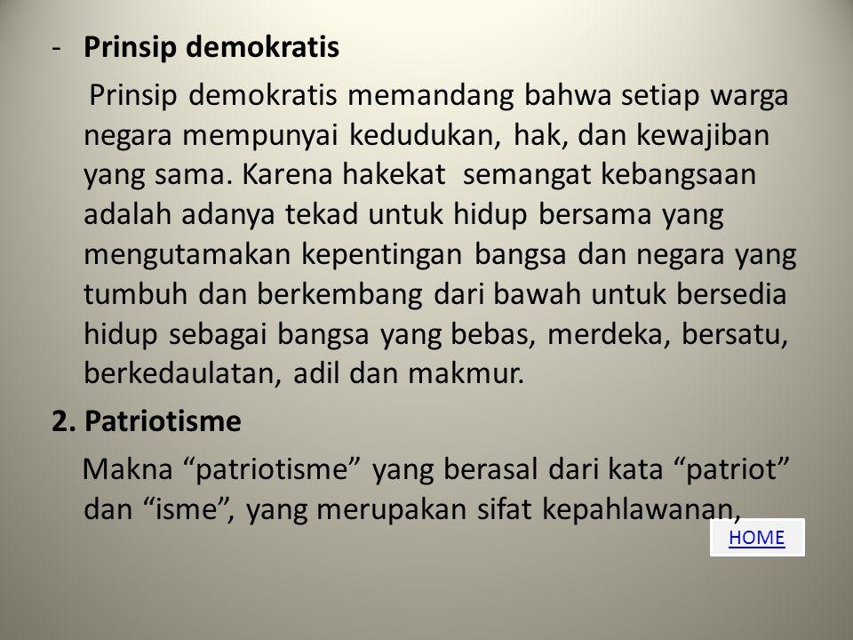 Prinsip demokratis