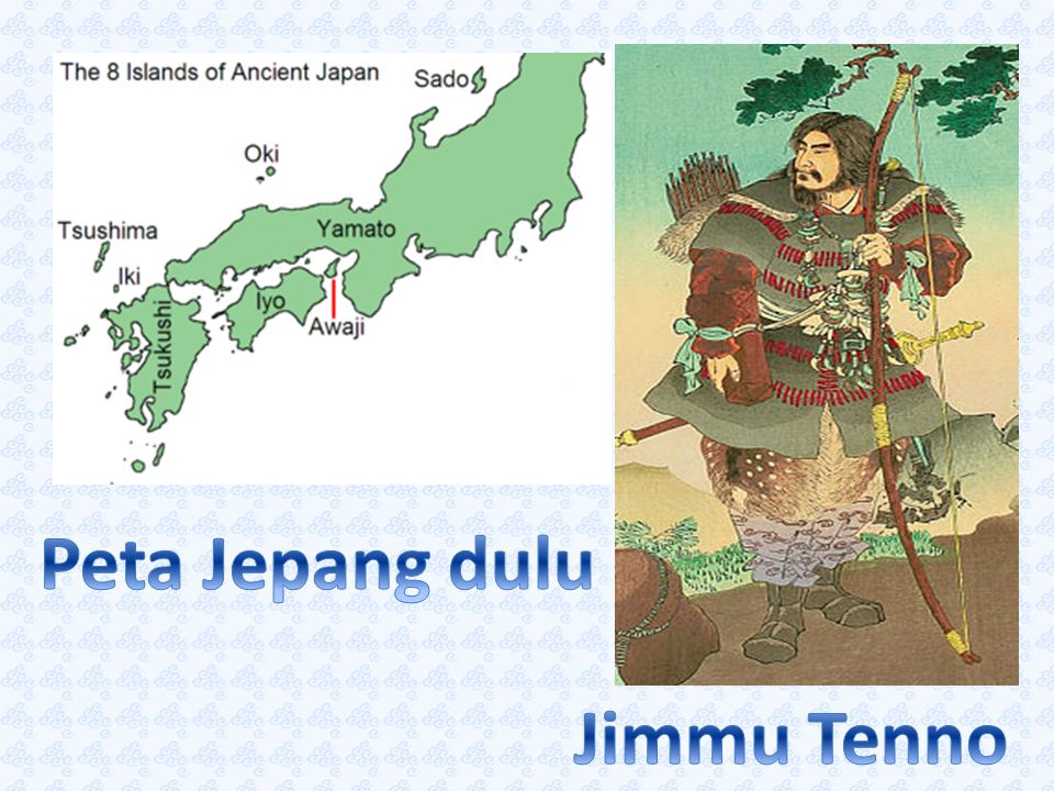 Peta Jepang dulu Jimmu Tenno