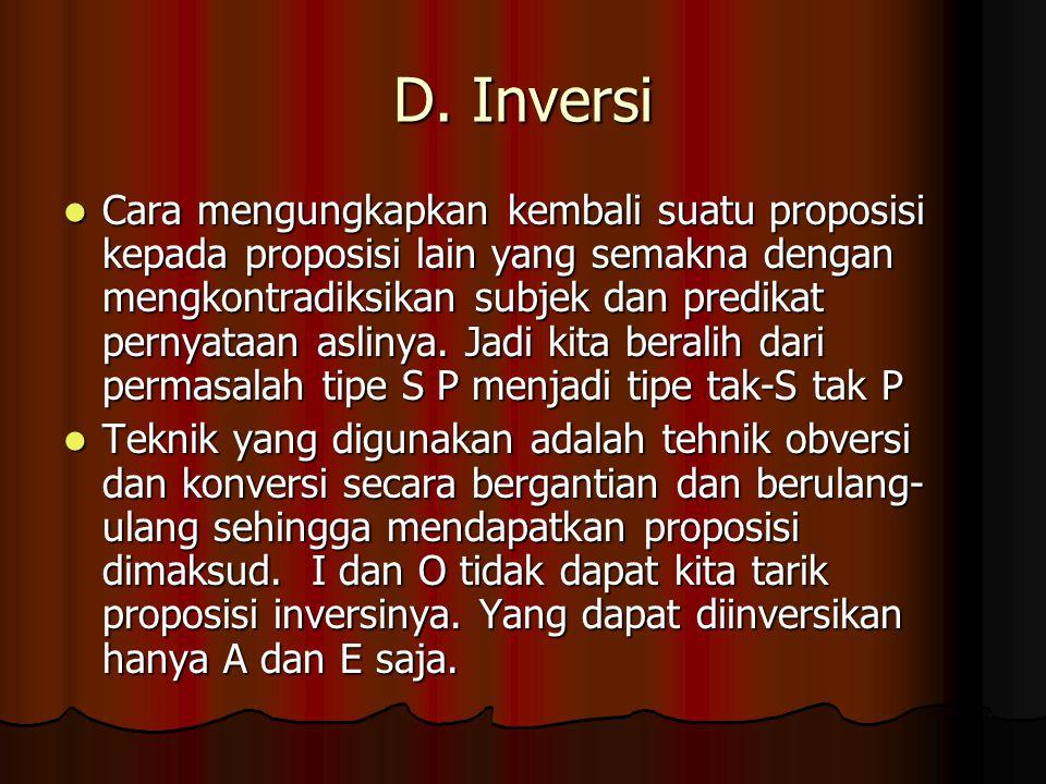 D. Inversi