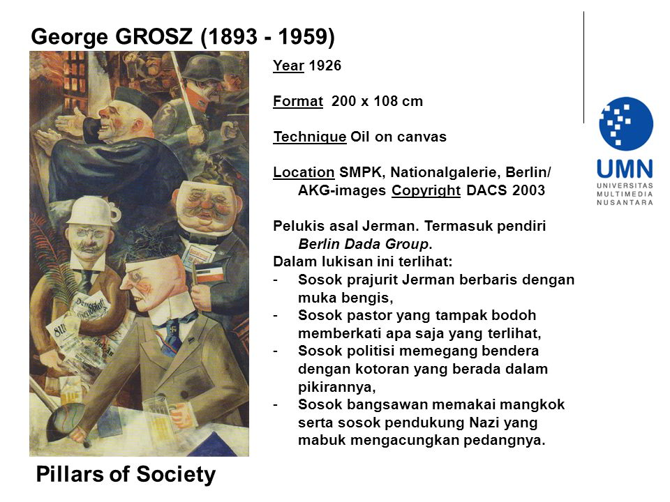 George GROSZ (1893 - 1959) Pillars of Society Year 1926