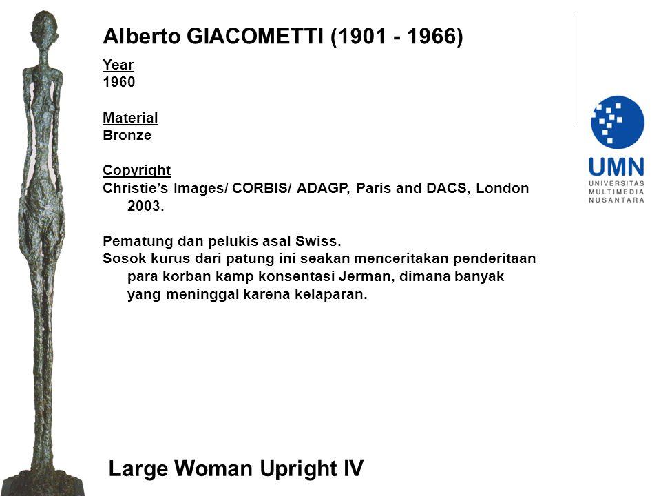 Alberto GIACOMETTI (1901 - 1966)