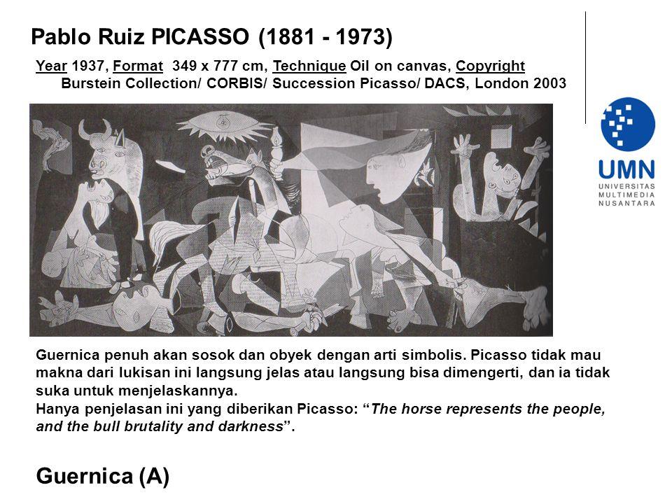 Pablo Ruiz PICASSO (1881 - 1973) Guernica (A)