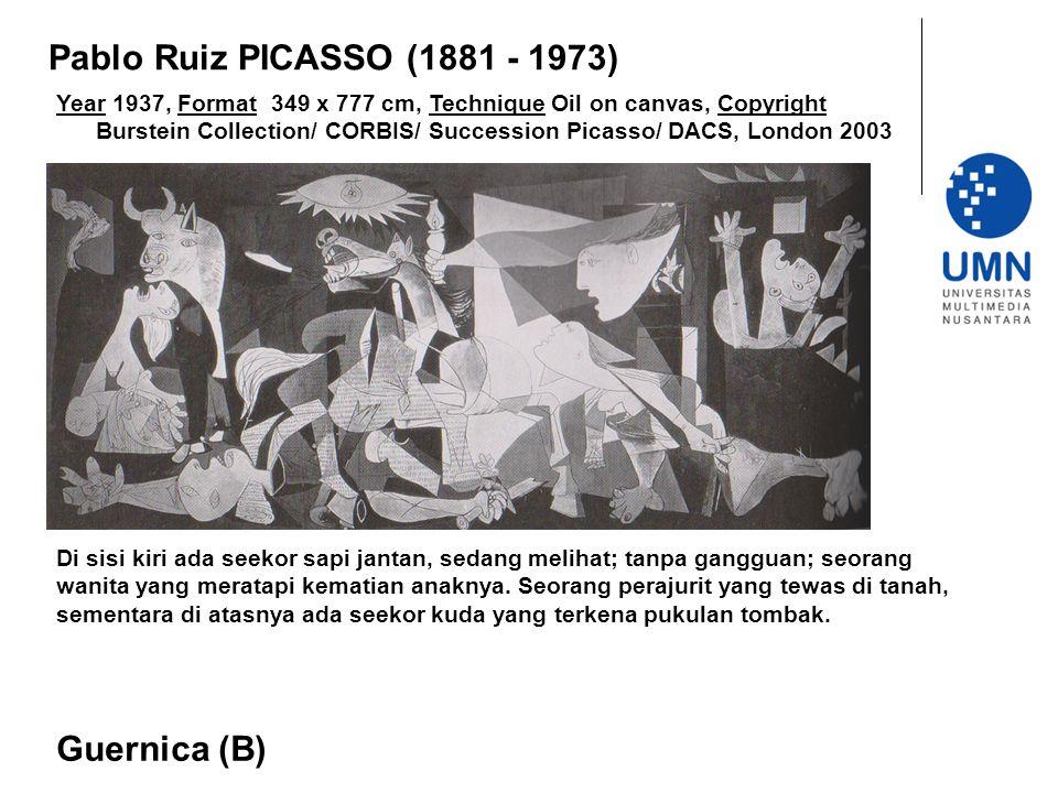 Pablo Ruiz PICASSO (1881 - 1973) Guernica (B)