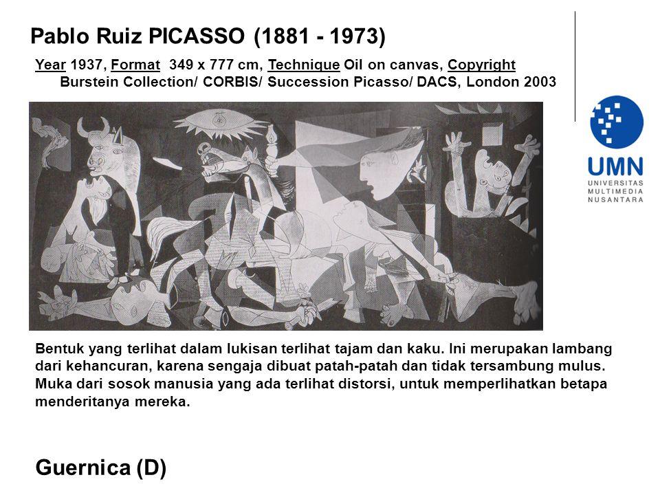 Pablo Ruiz PICASSO (1881 - 1973) Guernica (D)