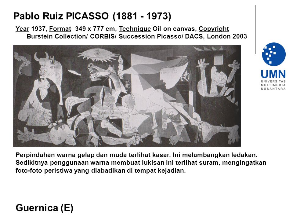 Pablo Ruiz PICASSO (1881 - 1973) Guernica (E)