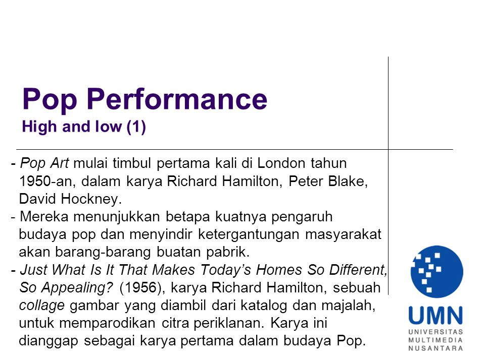 Pop Performance High and low (1)