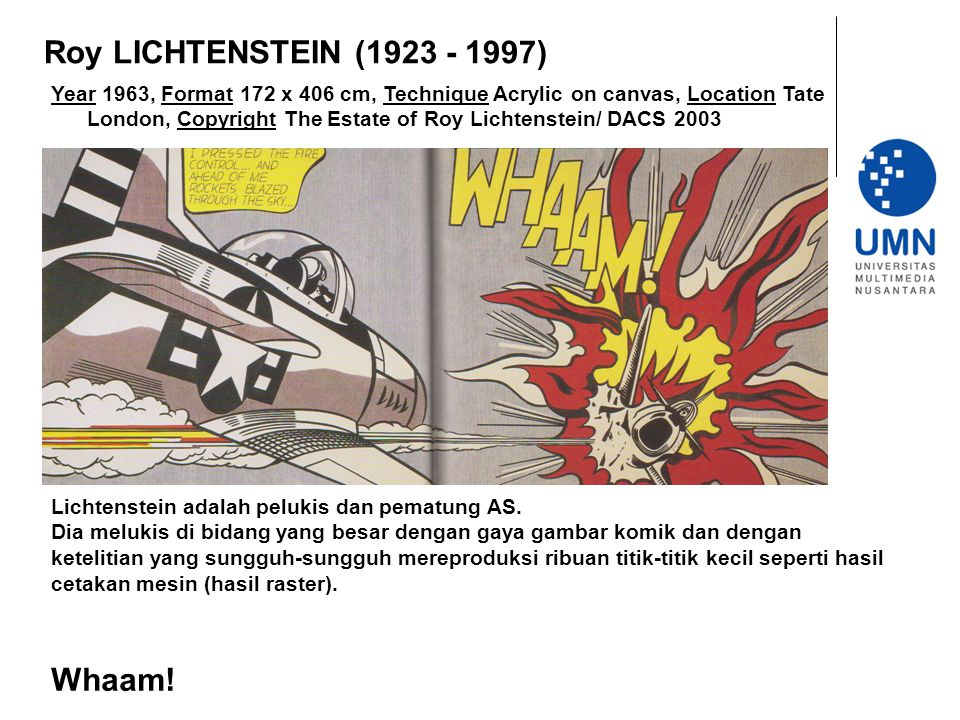 Roy LICHTENSTEIN (1923 - 1997) Whaam!