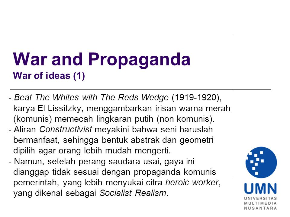 War and Propaganda War of ideas (1)