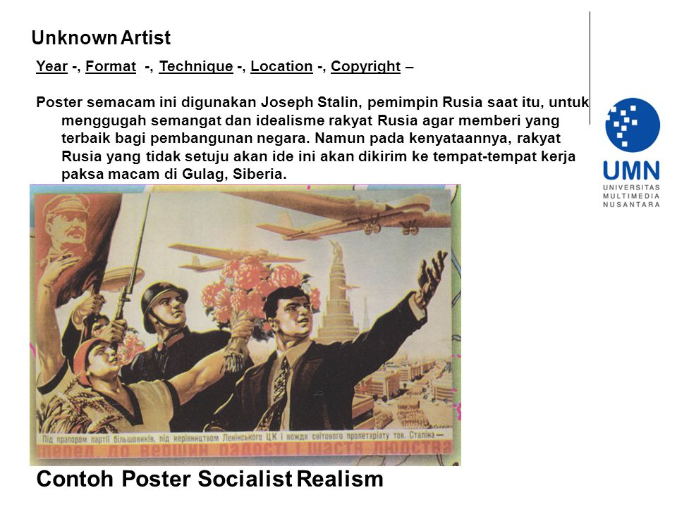Contoh Poster Socialist Realism