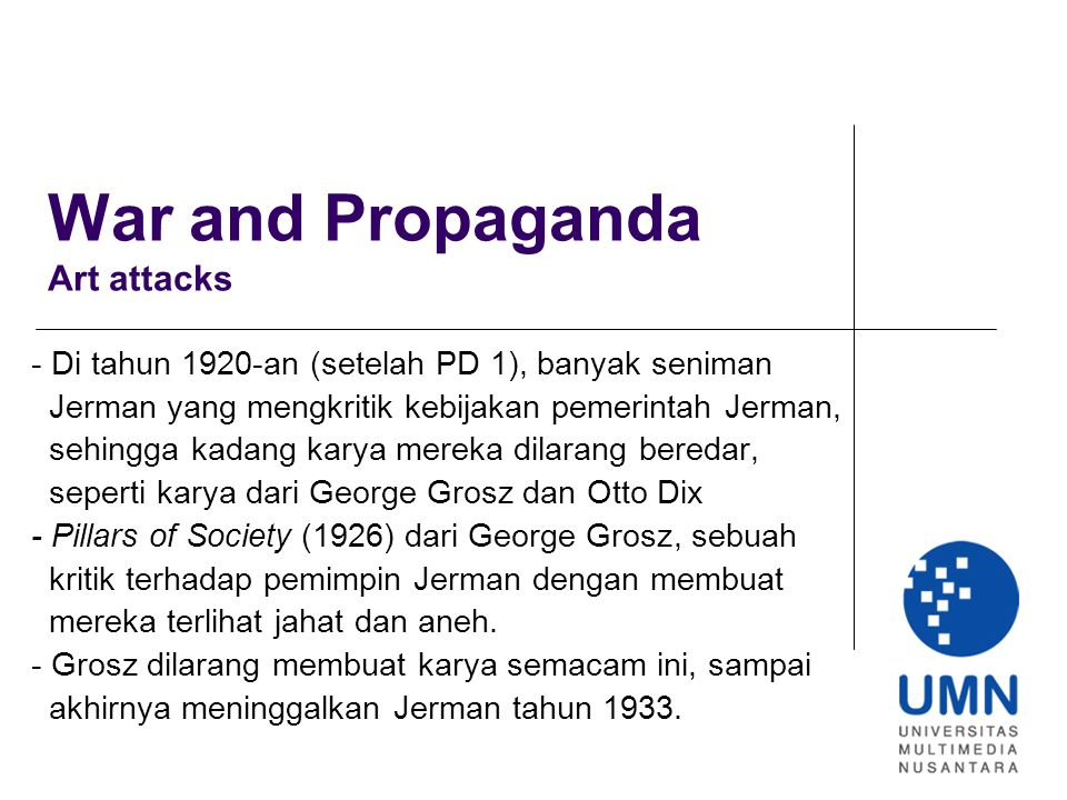 War and Propaganda Art attacks