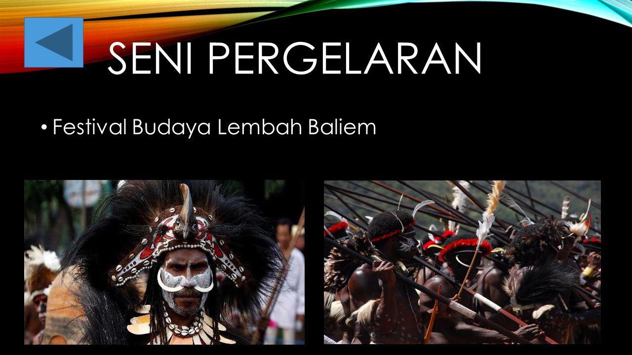 Seni pergelaran Festival Budaya Lembah Baliem