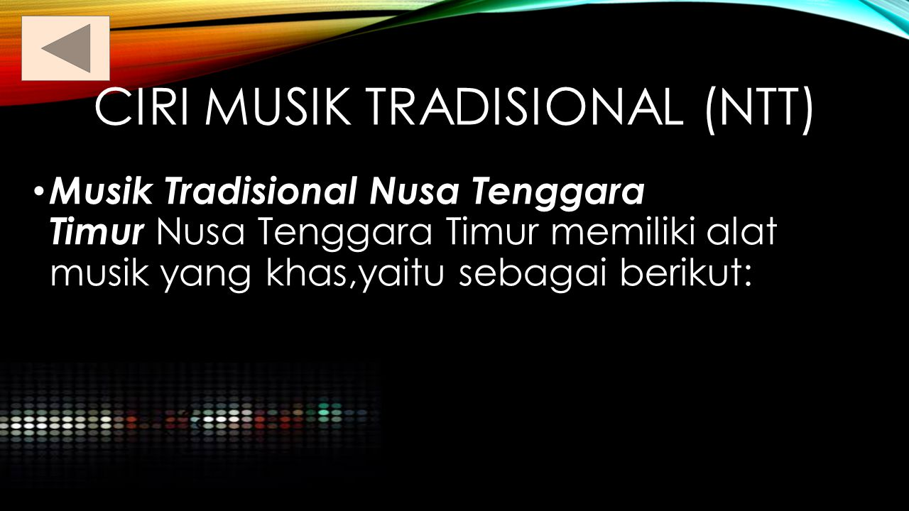 Ciri musik tradisional (ntt)