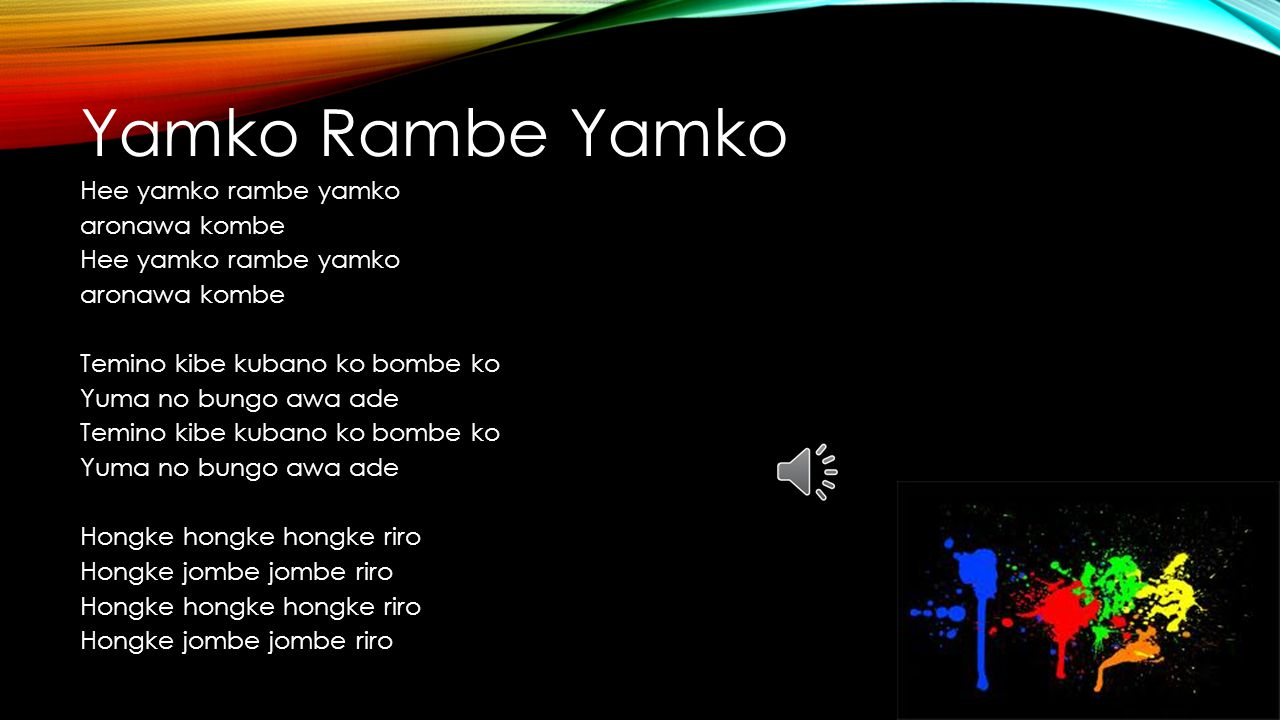 Yamko Rambe Yamko Hee yamko rambe yamko aronawa kombe