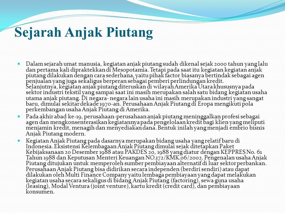 Sejarah Anjak Piutang