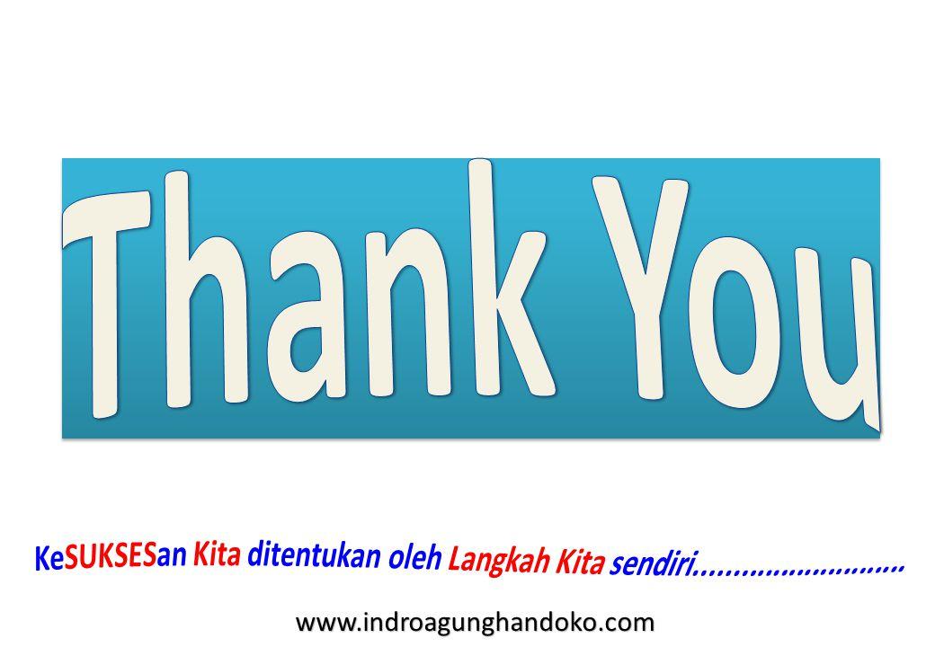 Thank You KeSUKSESan Kita ditentukan oleh Langkah Kita sendiri...........................