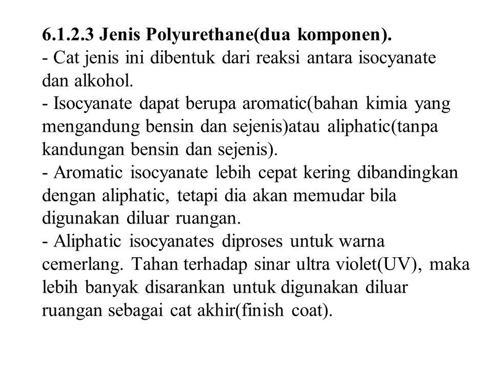 6. 1. 2. 3 Jenis Polyurethane(dua komponen)