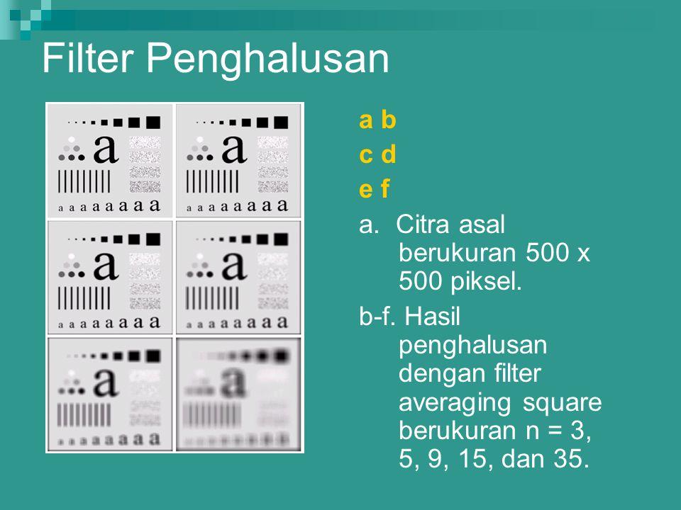 Filter Penghalusan a b c d e f