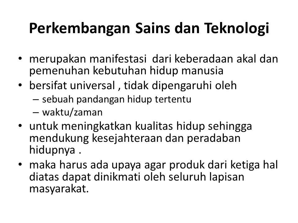 Perkembangan Sains dan Teknologi
