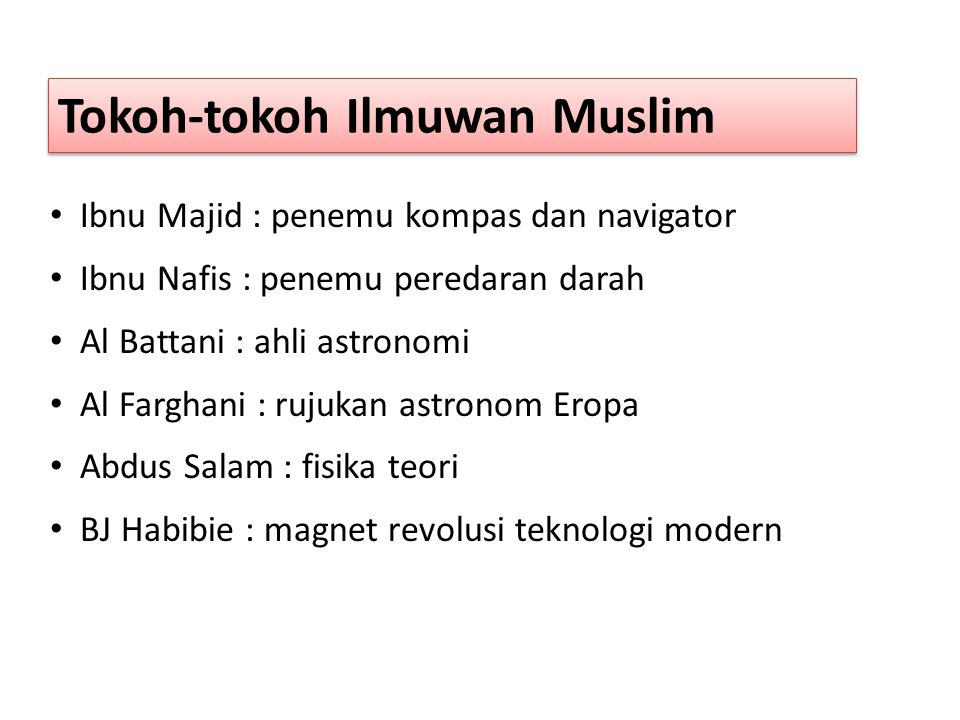 Tokoh-tokoh Ilmuwan Muslim