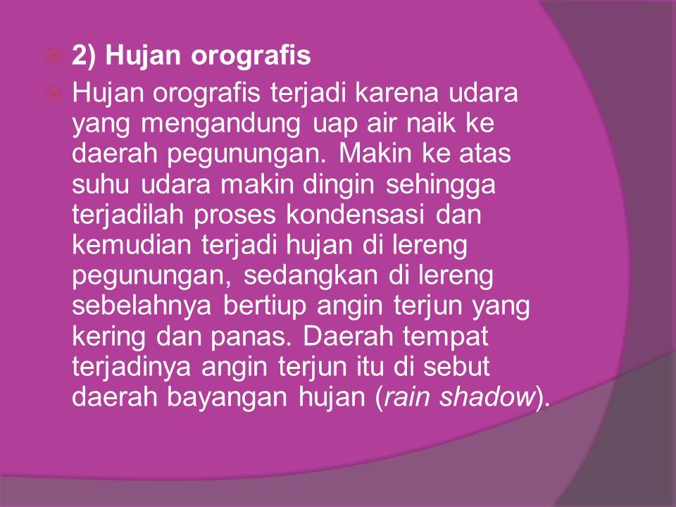 2) Hujan orografis