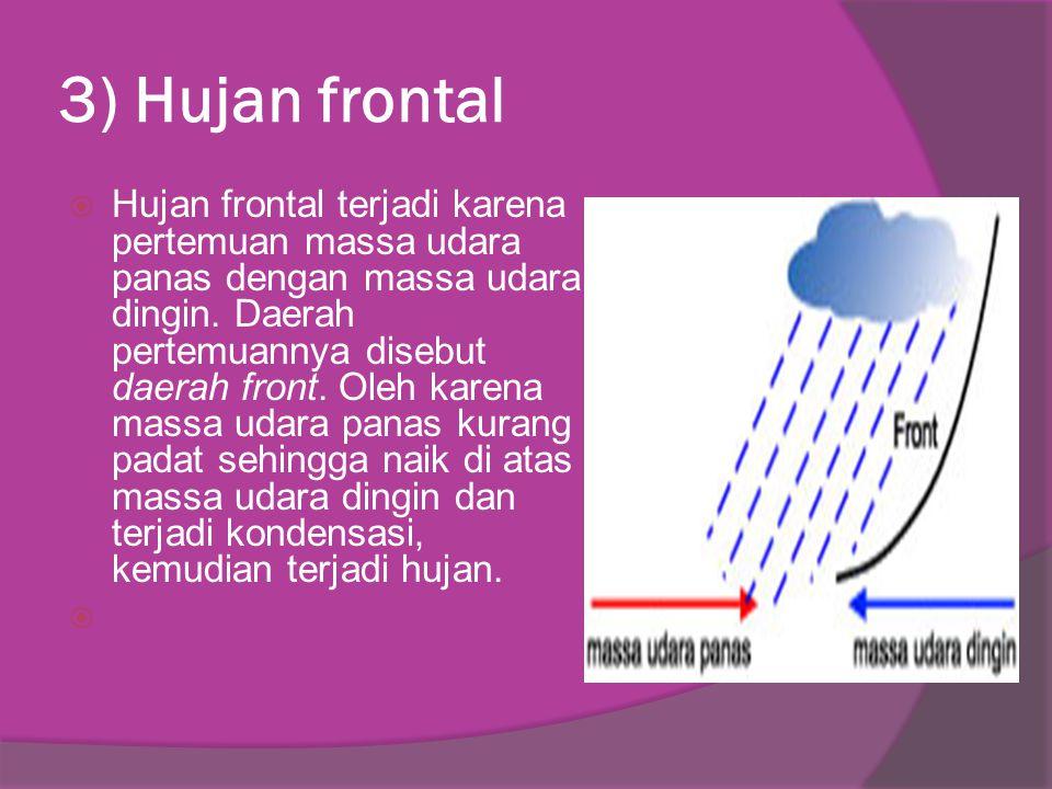 3) Hujan frontal