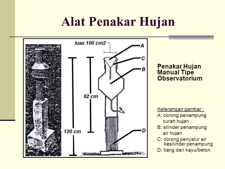 Alat Penakar Hujan Penakar Hujan Manual Tipe Observatorium