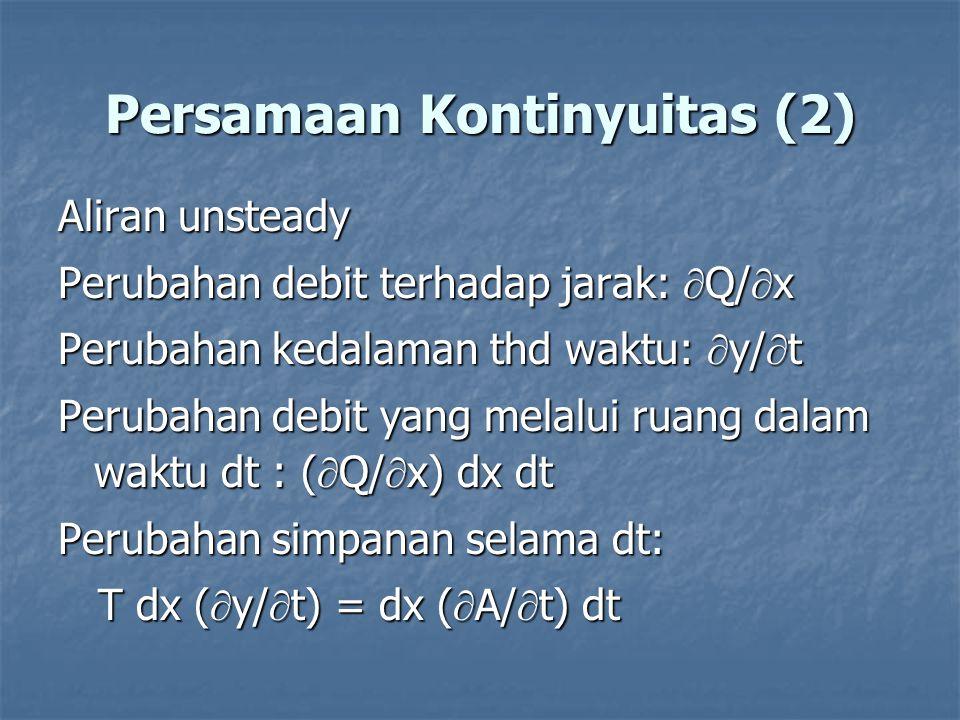 Persamaan Kontinyuitas (2)