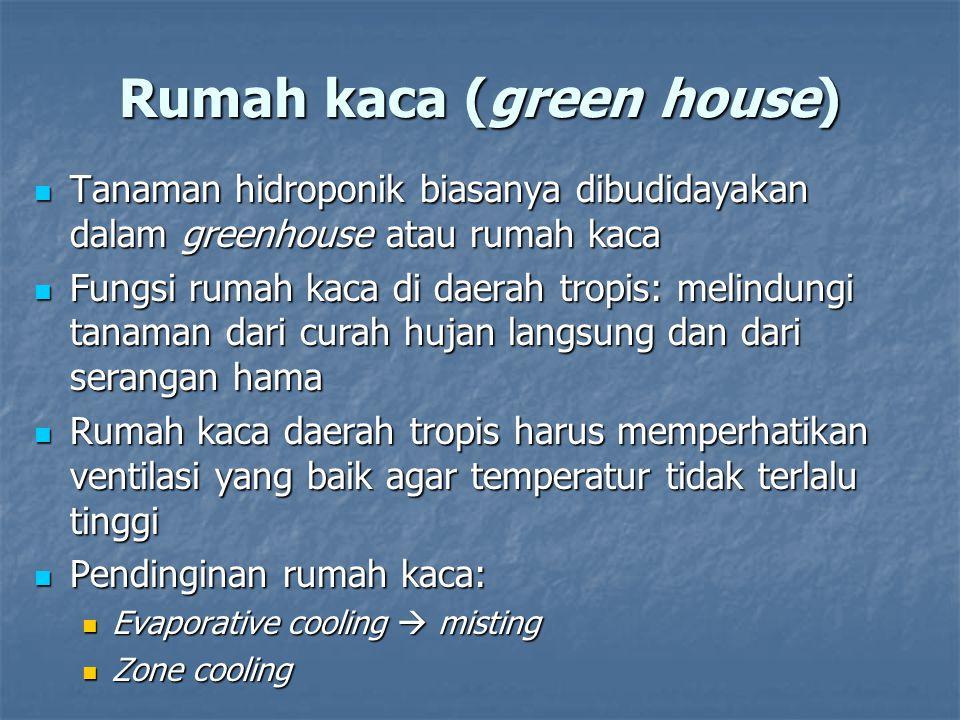 Rumah kaca (green house)