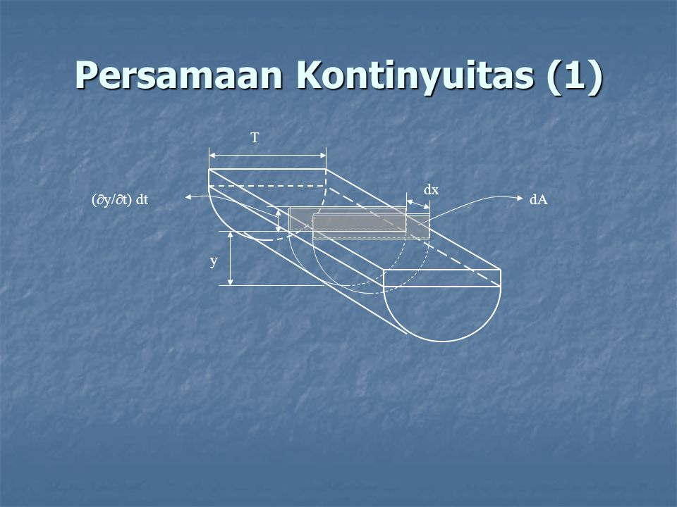 Persamaan Kontinyuitas (1)