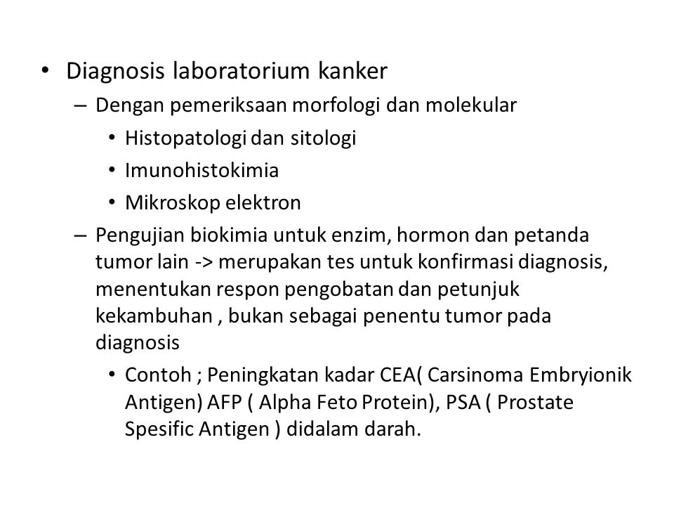 Diagnosis laboratorium kanker