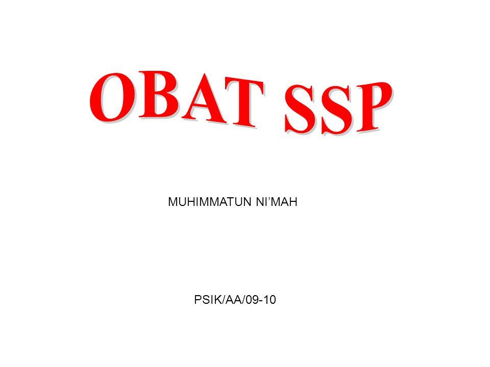 OBAT SSP MUHIMMATUN NI'MAH PSIK/AA/09-10