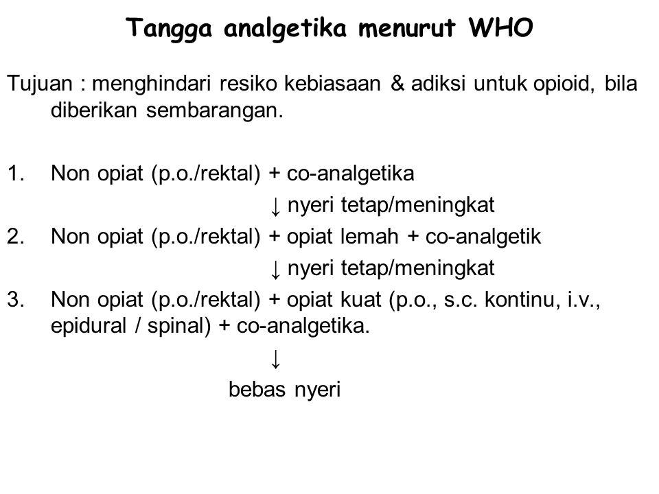 Tangga analgetika menurut WHO