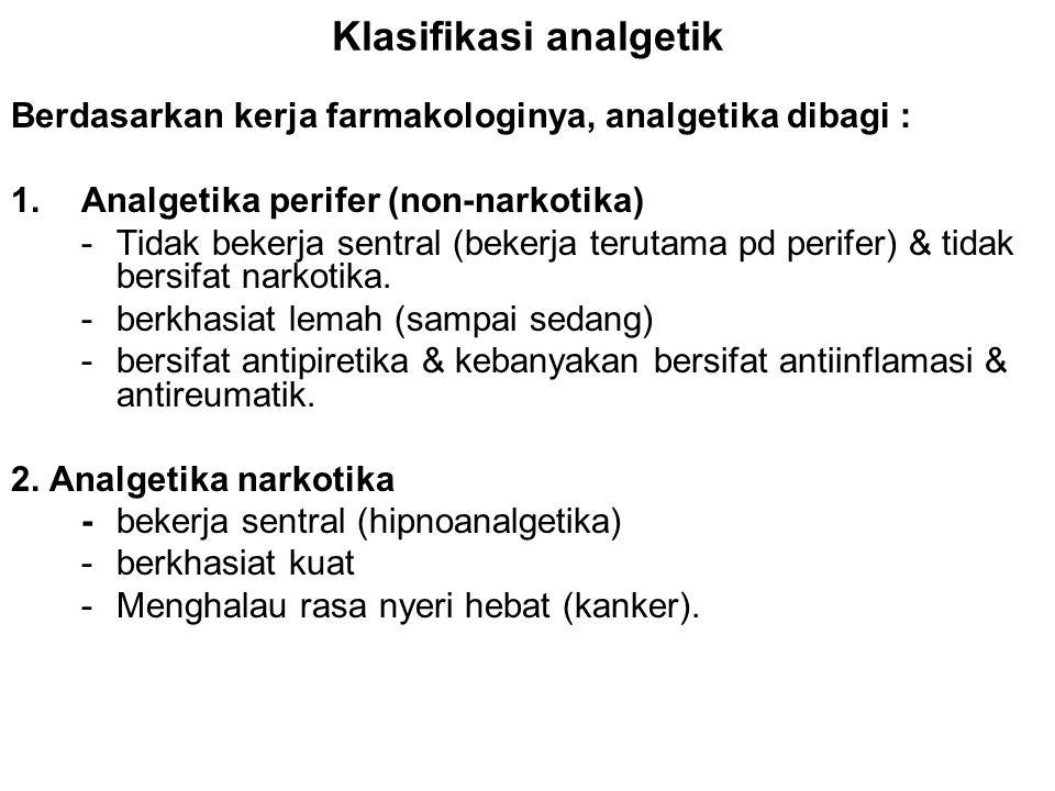 Klasifikasi analgetik