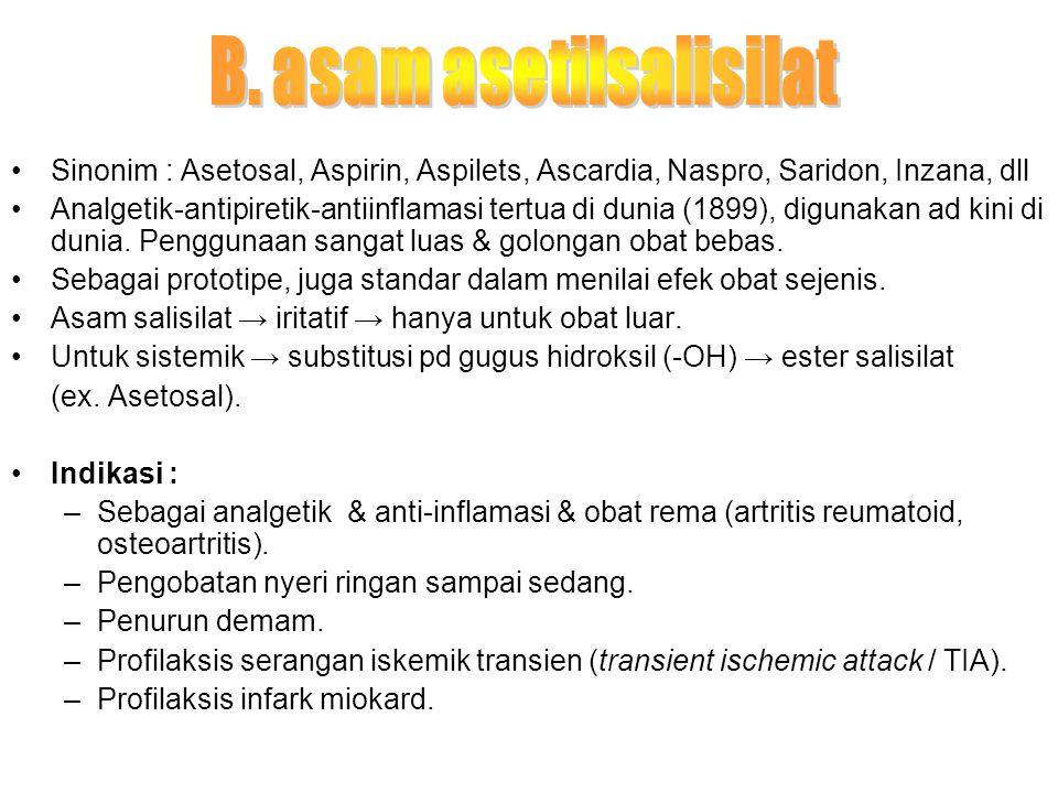 B. asam asetilsalisilat