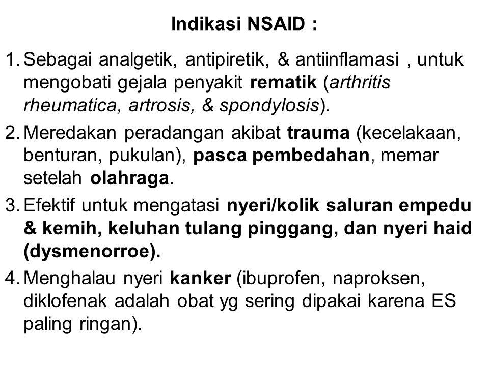 Indikasi NSAID :