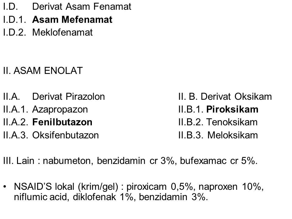 I.D. Derivat Asam Fenamat