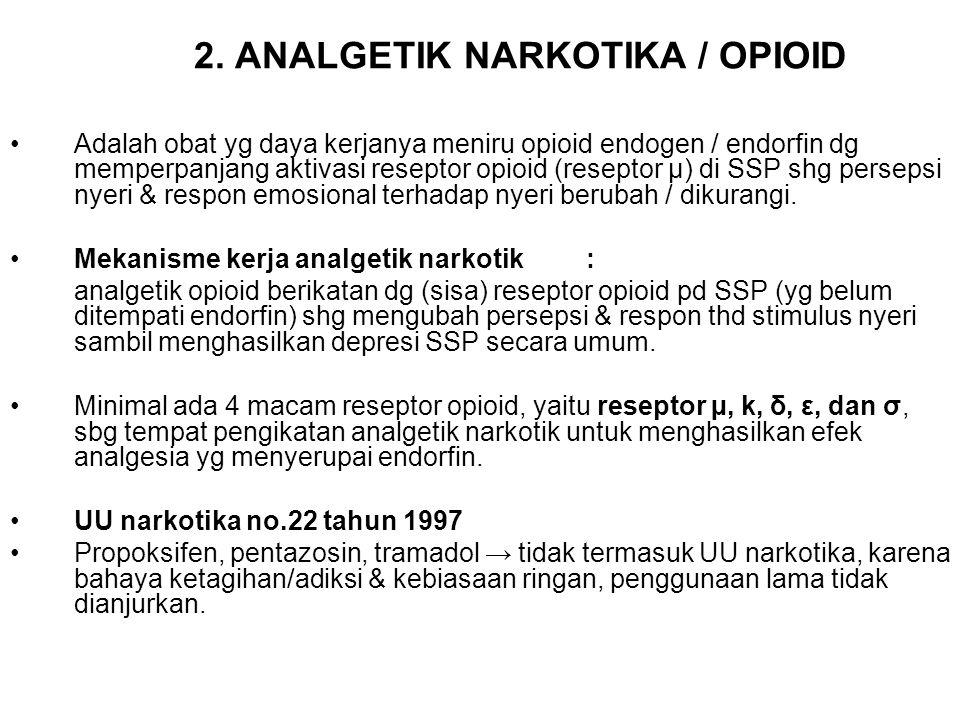 2. ANALGETIK NARKOTIKA / OPIOID