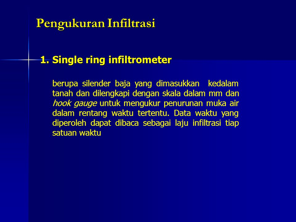 Pengukuran Infiltrasi