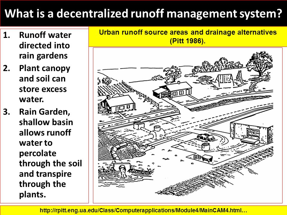 What is a decentralized runoff management system