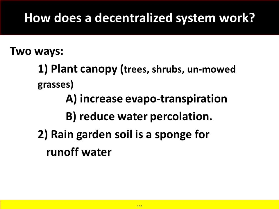 How does a decentralized system work