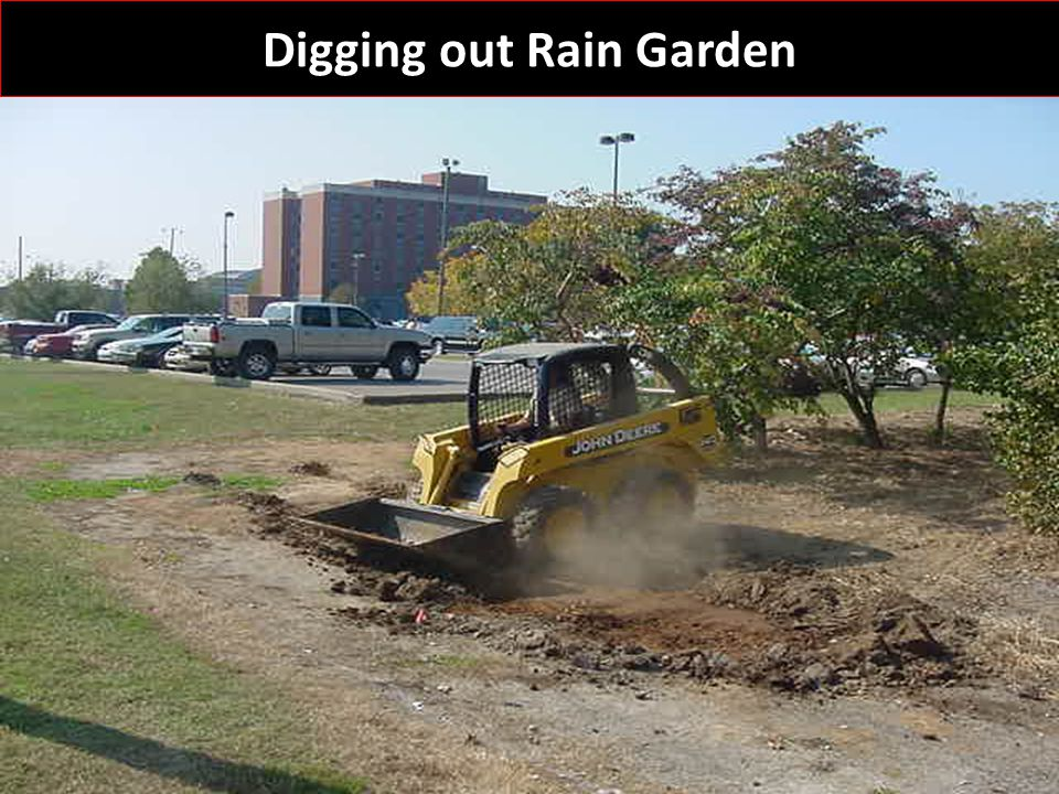 Digging out Rain Garden