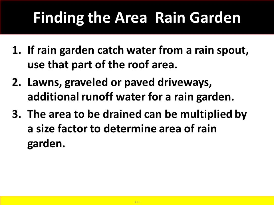 Finding the Area Rain Garden