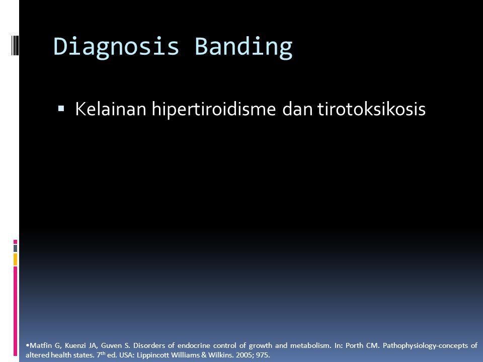 Diagnosis Banding Kelainan hipertiroidisme dan tirotoksikosis