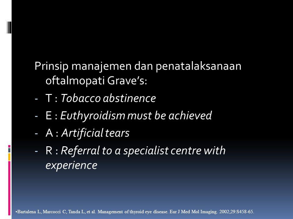 Prinsip manajemen dan penatalaksanaan oftalmopati Grave's:
