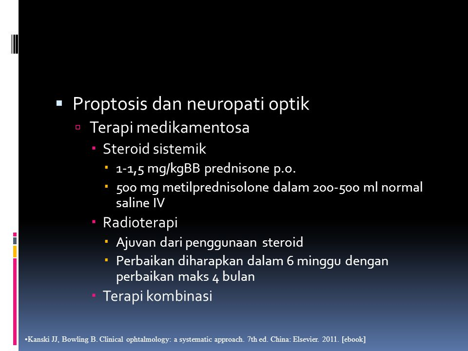 Proptosis dan neuropati optik