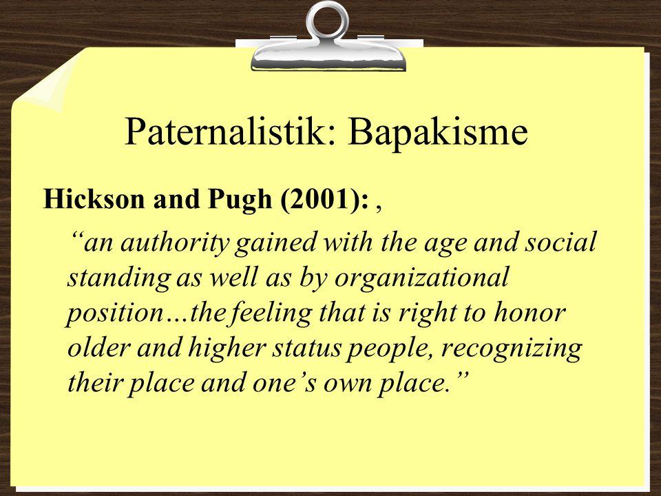 Paternalistik: Bapakisme