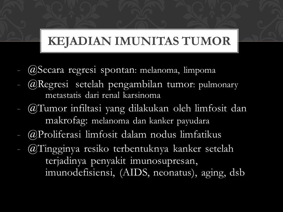 Kejadian imunitas tumor