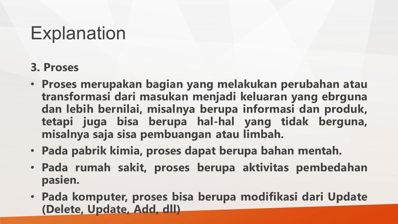 Explanation 3. Proses.
