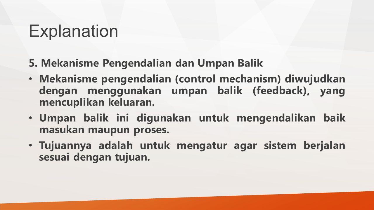 Explanation 5. Mekanisme Pengendalian dan Umpan Balik
